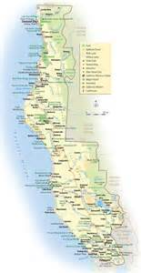 northern california coast map northern california sights attractions