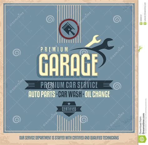 auto service vintage poster design royalty free stock