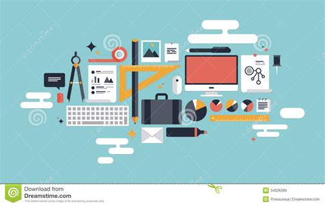 que es graphic layout illustration of business working elements stock vector