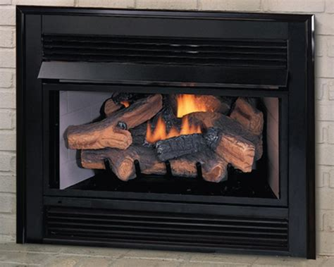 gas fireplace logs with blower vantage hearth vent free gas fireplace insert with
