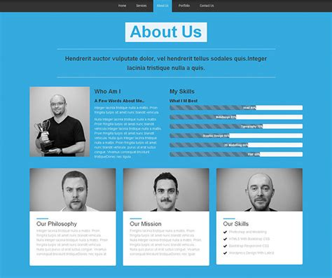 60 Best Single Page Website Templates Web Graphic Design Bashooka Our Team Website Template
