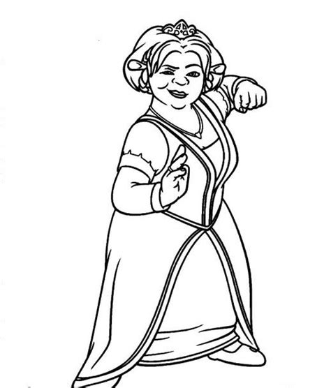 coloring pages of princess fiona princess fiona from shrek coloring pages colouring