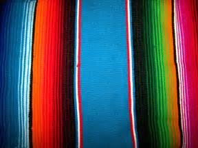 mexico colors decorate the interior with mexican blankets