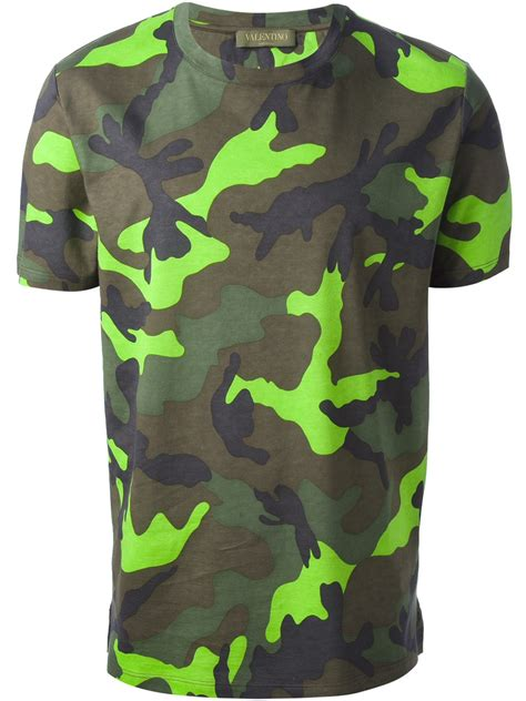 T Shirt And Sons Organic Shirt Printing by Lyst Valentino Camouflage Print T Shirt In Green For