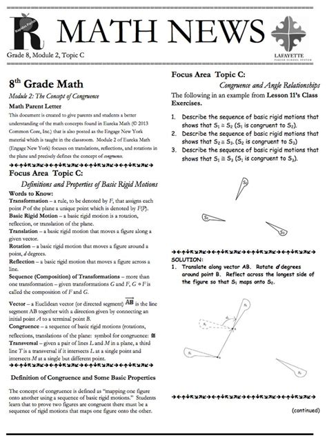 Parent Letter Eureka Math 17 Best Images About Grade 8 Eureka Math On Parent Newsletter Student And The Property