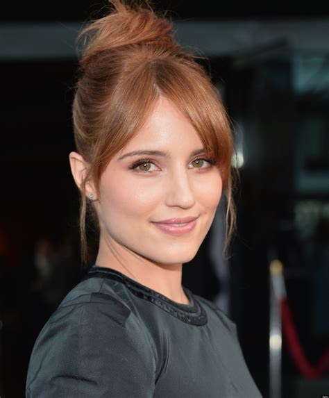 Hair Bang Styles Spilt | dianna agron blonde redhead actress reverts back to her