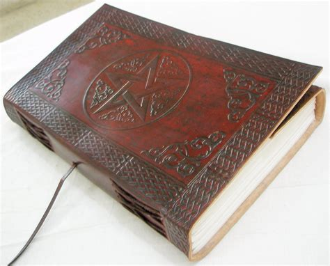 Handmade Leather Bound Books - handmade leather bound book of shadows blank journal