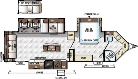 Flagstaff Travel Trailer Floor Plans by Flagstaff V Lite Travel Trailers Floor Plans Access Rv