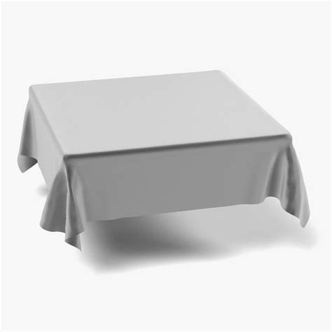 tablecloth on square table tablecloth square 3d model