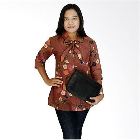 jual mayura batik cantika blouse wanita coklat