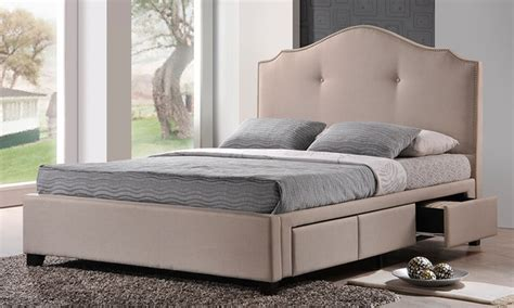 groupon bed upholstered bed with storage groupon goods