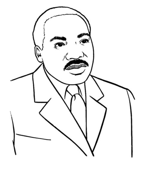 martin luther king coloring page teaching prek pinterest