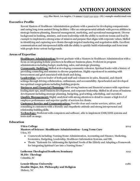 Healthcare Resume Template by Professional Entry Level Healthcare Administrator