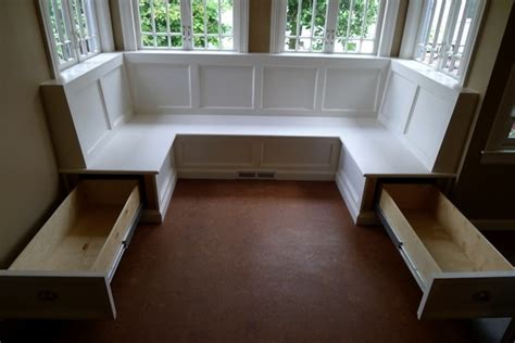 dining banquette with storage keeping this as an idea for under bench storage if we ever