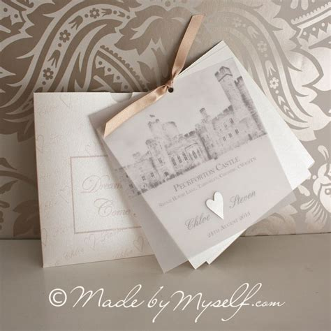 Unique Castle Wedding Invitations by Peckforton Castle Wedding Invitation