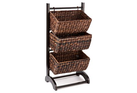 3 tier basket cubby espresso storage from one