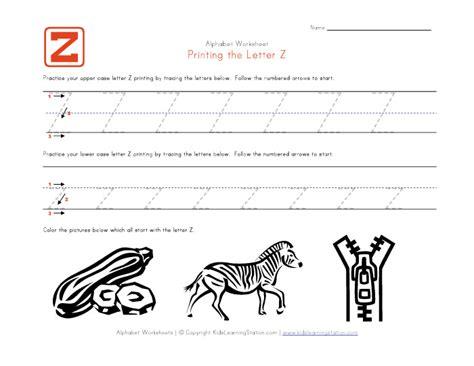 printable worksheets letter z traceable alphabet letter z worksheet kids learning station