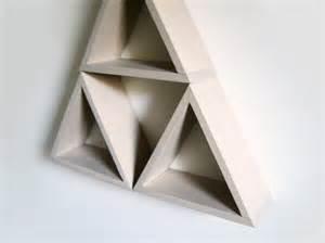 Triangle Wall Shelf by Triangle Shelves Pale Beige Wall Shelf Reclaimed Wood