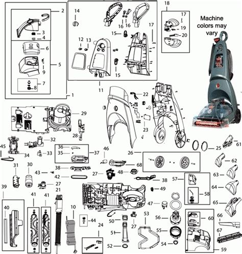 bissell proheat parts diagram bissell 66q4 proheat 2x healthy home upright vacuum