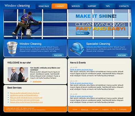 window cleaning html template