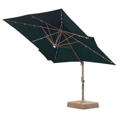 Southern Patio Umbrellas Southern Patio Deluxe Tier Square Offset Umbrella Qvc