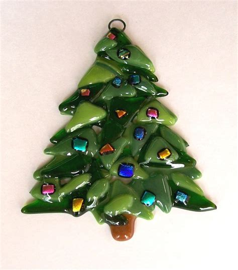 fused glass christmas ornament christmas tree