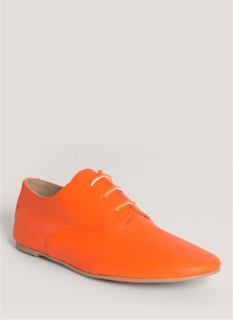orange oxford shoes mm6 by maison martin margiela neon leather oxfords in