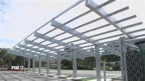 Solar Parking Canopy by Solar Canopy Built In Wrong Parking Lot Video Fox 13