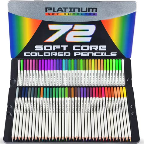 soft colored pencils platinum supplies soft colored pencils with tin