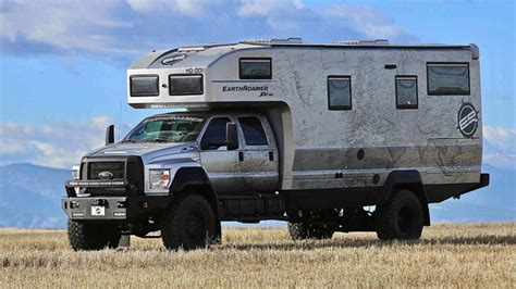 ford earthroamer price earthroamer xv hd is an roading ford f 750 rv for 1 5m