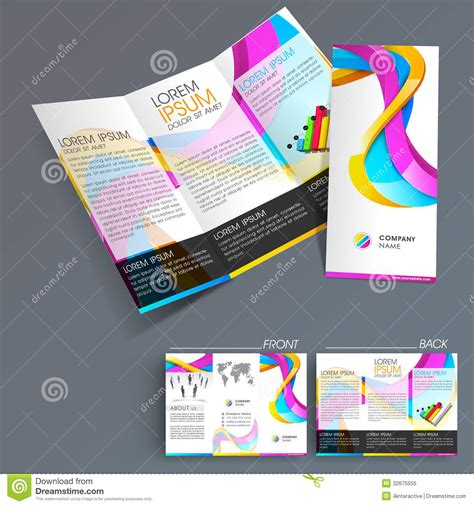 professional business  fold flyer template royalty  stock photo image