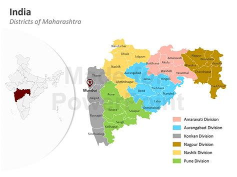 Maharashtra District Map Editable Powerpoint Maps India Map Editable