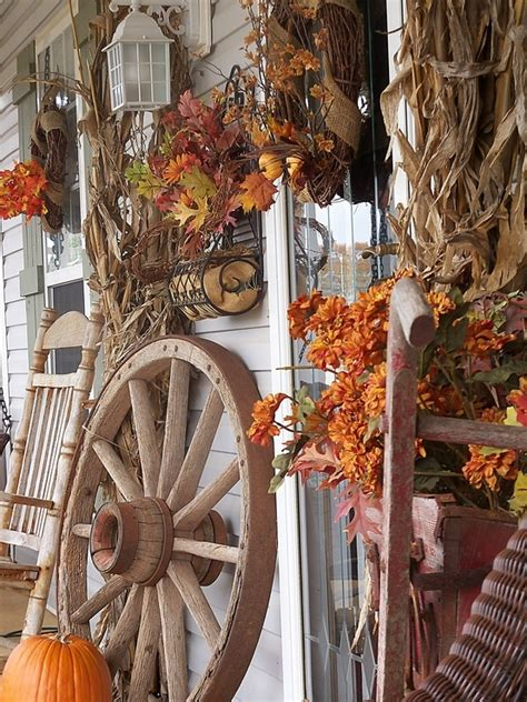rustic fall decor 85 pretty autumn porch d 233 cor ideas digsdigs