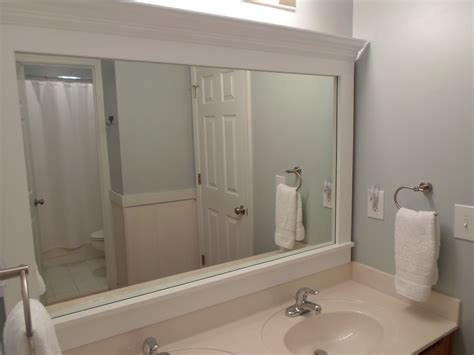 Framing A Bathroom Mirror With Moulding Cheriesparetime Frame A Mirror With