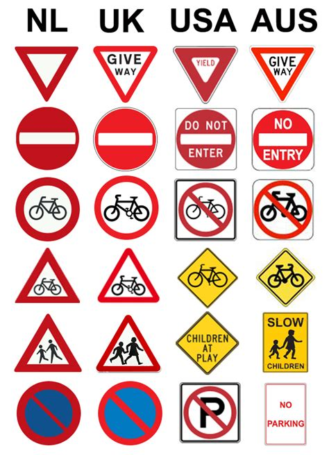 printable european road signs road signs for cycling in the netherlands school