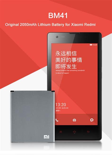 Original Xiaomi Battery Bm41 For Redmi 1s Bagus original 2050mah bm41 lithium battery for xiaomi redmi hongmi