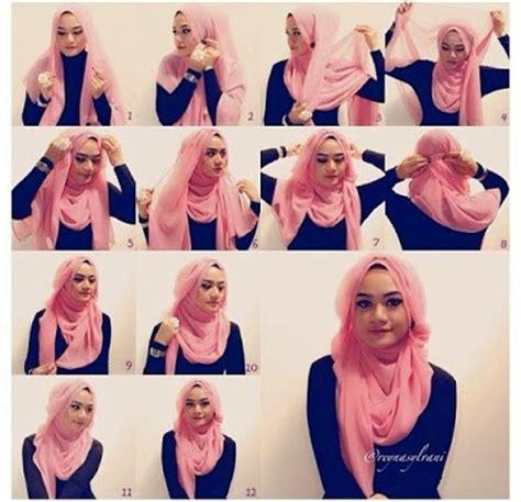 model rambut 321 cara memakai jilbab pashmina untuk wajah bulat