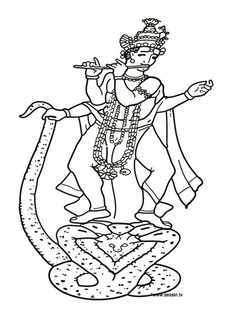 krishna colouring pages