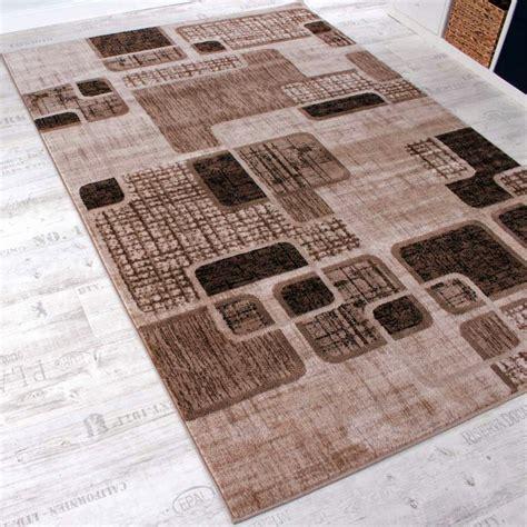 teppiche retro designer teppich wohnzimmer teppich retro muster in braun