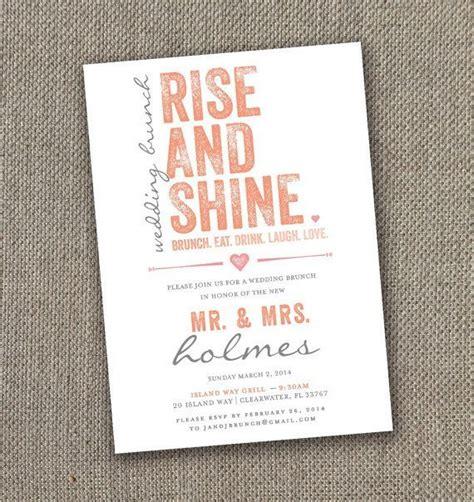 wording for wedding brunch invitation 25 best ideas about brunch invitations on