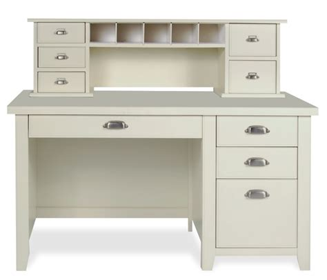 Small Hutch Desk White Desk With Small Hutch And Drawers I Like The Drawer Pulls Living Room Home Office