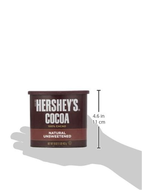 Hersheys 100 Cocoa Powder Unsweetened hershey s unsweetened 100 cocoa baking beverage gluten free 16 ounce can pack of 3