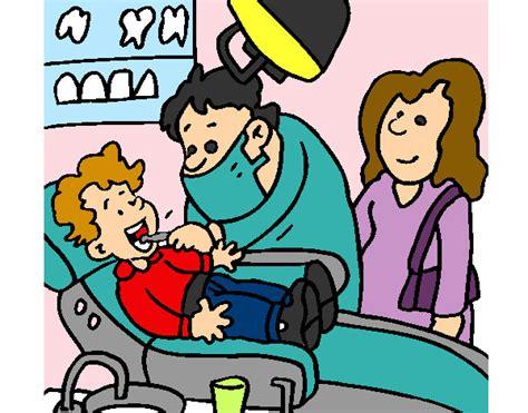 imagenes animadas odontologo dibujo de ni 241 o en el dentista pintado por anyio16 en