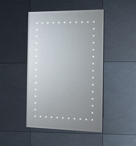 led bathroom mirrors with demister phoenix led mirror with demister pad 500mm x 700mm mi012