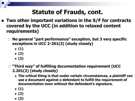ucc section 2 201 ppt contracts statute of frauds parol evidence rule