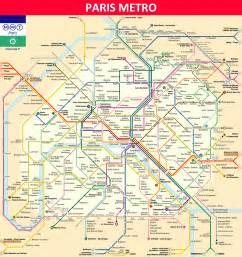 Paris Metro Map English by Paris Metro Maps Timetables Tourist Information