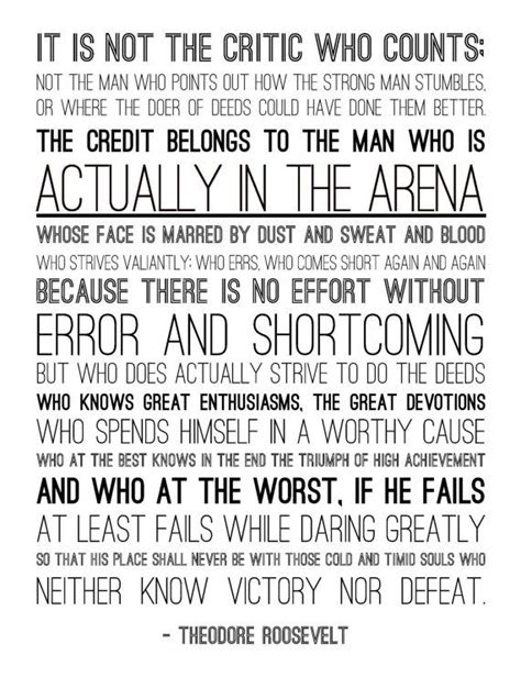 printable theodore roosevelt quotes man in the arena theodore roosevelt quotes quotesgram