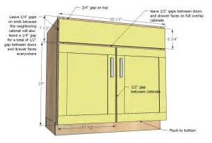 Kitchen Cabinet Door Dimensions Ana White Kitchen Cabinet Sink Base 36 Full Overlay Face