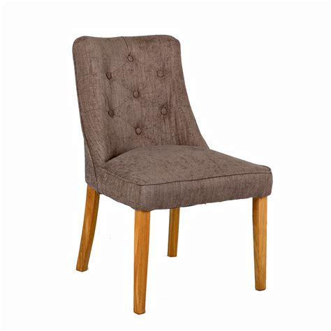 Handmade Chairs - fabric accent chair with oak legs tiramisu brown eu