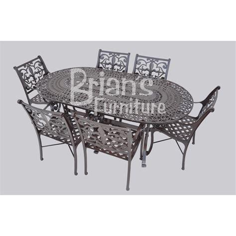 Fleur De Lis Patio Furniture 7 Pc Oval Fleur De Lis Patio Set Outdoor Furniture